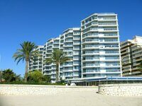Apartment in first line of the sea, with views to the sea and the Peñon de Ifach in Calpe