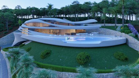Unique villa with unforgettable sea views on the Costa Blanca, Javia. The new and modern project