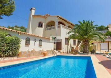 Villa on the coast of Benissa, located 1.1 km from the beach