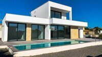 Newly built villa with partial views of the Peñón, just 1.5 km to Fossa beach in Calpe.