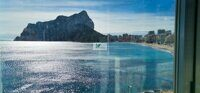 Apartment with views of the sea and Peñon de Ifacha, just 100 m from La Fosa beach in Calpe