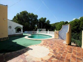 Villa 250 meters from the sea on the coast of Benissa.