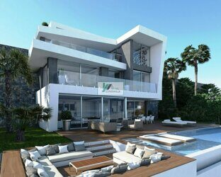 Villa of new construction on the first line of the sea with stunning views of the sea and the coast, in Javea