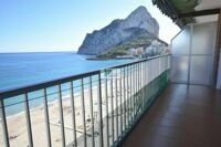 Wonderful apartment in front line beach in Calpe with views of rock and beach.