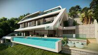 Luxury villa with open views to the sea and the coast in Altea. New construction.