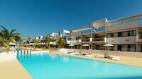Newly built apartment on the Costa Blanca, near Benidorm. Residential complex with community pools for children and adults, garden areas, playground and parking spaces in an underground garage