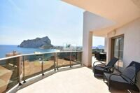 Apartment, penthouse with open views to the sea and the Peñón de Ifach in Calpe.