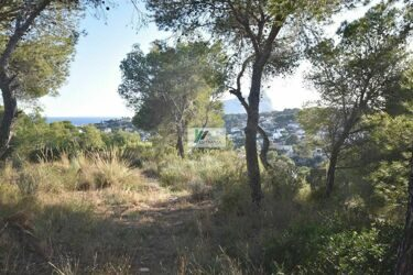 Plot with views to the sea and around on the coast of Benissa.