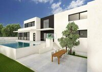 New construction. Villa within walking distance of the beach on the coast of Benissa.