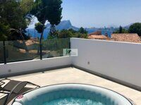 Villas near the sea of new construction in Moraira.