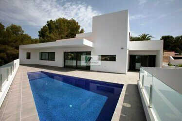 New construction. Modern design villa on the coast of Benissa ,1.4 km to the sea and the beach.