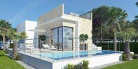 New construction. House overlooking the sea and the surrounding area on the Costa Blanca, Finestrat