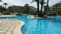 The apartment is located in one of the best urbanizations in the first line of the beach of Denia.