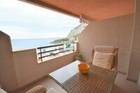 Apartment on the seafront, overlooking the sea and mountains in Calpe.
