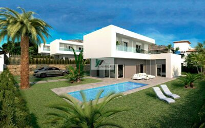 New construction. Modern style villa just minutes from Benidorm