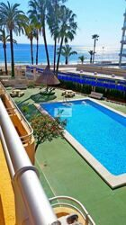 Apartment overlooking the sea in Calpe, located on the beach front, and on the seafront