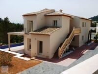 New house in Javea, with mountain views