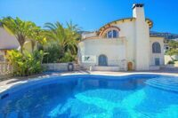Villa with views to the sea and the Peñón de Ifach in Calpe