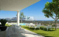 Newly built villa with sea and mountain views on the Costa Blanca in Polop.