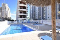 Apartment with sea views on the seafront in Calpe. Located in a residential building near La Fossa beach