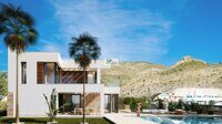 Villa with views to the sea, the coast and Benidorm. Newly built villa in Finestrat.