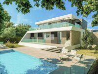 New construction. Villa with sea views in Moraira