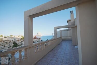 Apartment with sea views and the peñon de Ifach in Calpe.
